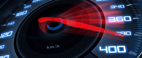 Photo of a speedometer showing acceleration as a metaphor for how Equispheres powder will impact automotive additive manufacturing.