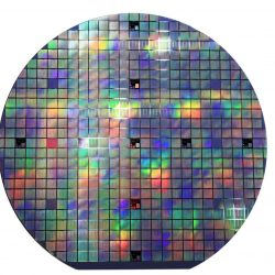 colorful Semiconductor wafer disk made of silicon